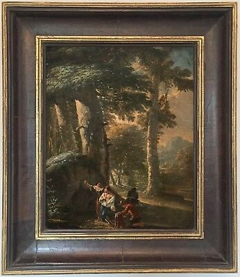 Bandits in a Forest Old Master Oil Painting 18th Century Dutch / Flemish School