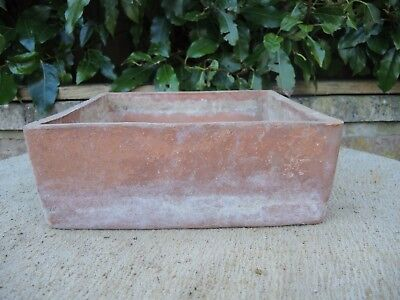 """Rare Old Sankey Bulwell Square Terracotta Seed Pan Plant Pot  10"""" (1151a)"""