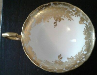 Hammersley Tea Cup only White / Gold Gilt