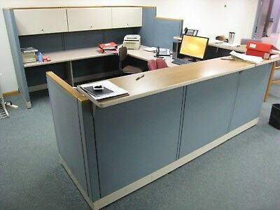 Used Hahn (Allsteel) Office Cubical Service Administraiters Desk