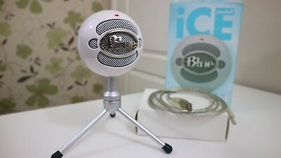 Blue Snowball iCE USB Microphone with Stand; White, Boxed, Complete