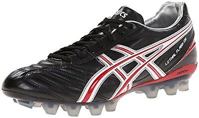 Asics LETHAL FLASH DS IT Mens Soccer Cleats Shoes sz 10.5 NEW BLACK RED WHITE
