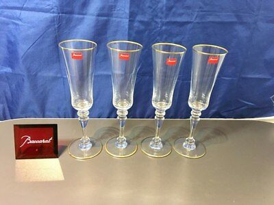 Baccarat Crystal Vienne Verre Flute Champagne 4640109 Set 4 pz. NEW IN BOX