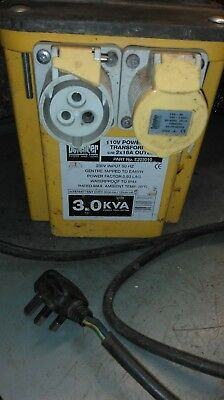 3.kva defender  transformer 240-110v need repair to be site safe