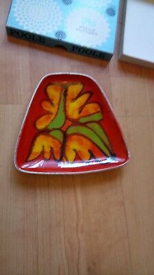 Poole Pottery Delphis Small Dish.No 81.Signed VP.In Excellent Condition With Box