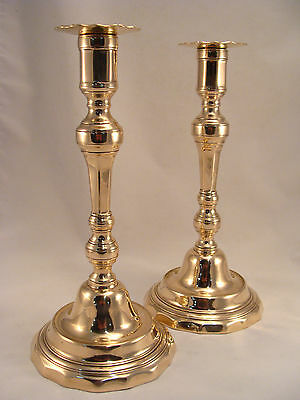 Unique Pair Antique French Bronze / Brass Candlesticks Louis XIV  18th.C.
