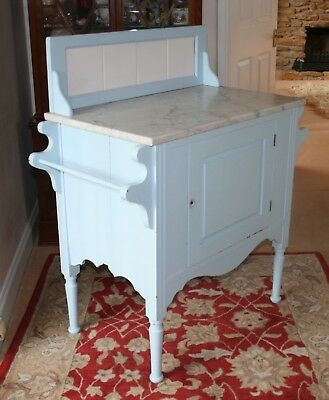 Marble topped painted washstand.