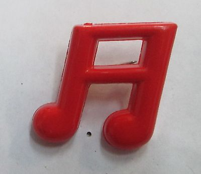 Musical Note Vintage Metal Lapel Pin New From Late 80's  She Loves Me Note