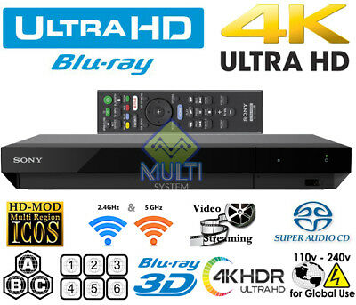 Sony Ubp-X700 Region Free Blu Ray Player Multi Zone All Region Codefree Wi-Fi