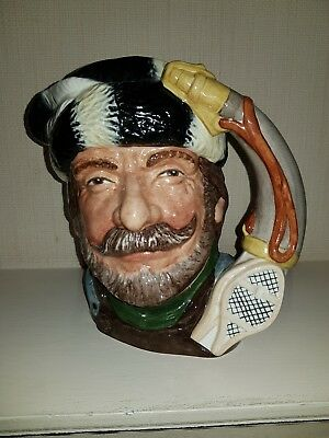 Royal Doulton The Trapper Character Jug  Very Rare Trial Colourway D6609 Mint