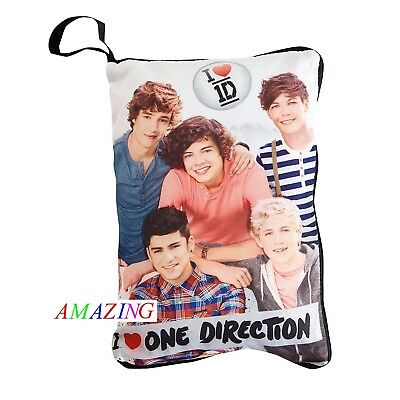 I LOVE ONE DIRECTION HIDE 'n' SLEEP CUSHION WITH MEMO PAD & PURSE - BRAND NEW