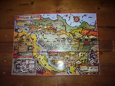Greyfriars School A4 Laminated Map Billy Bunter Magnet Comic Frank Richards