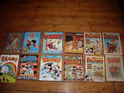 Twelve Beano & Dandy Comics, Albums & Holiday Specials Some With Free Gifts