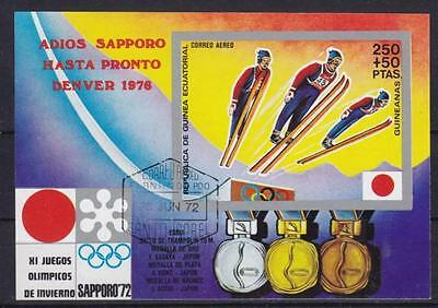 Olympiade Sapporo 1976 Skispringer Medaillen Guinea Bloc, gest., olympic games