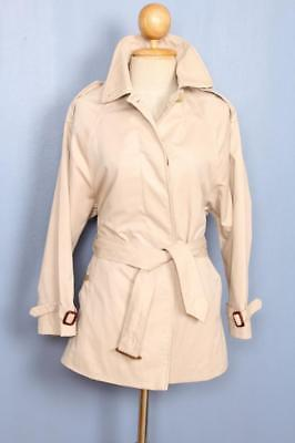 Womens BURBERRY Single Breasted Short TRENCH Coat Mac 8/10 Small