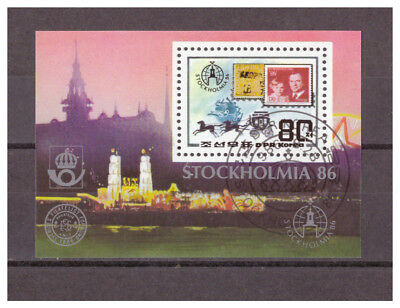 Korea, Briefmarkenausstellung STOCKHOLMIA '86 MiNr. 2766 Block 220, 1986 used