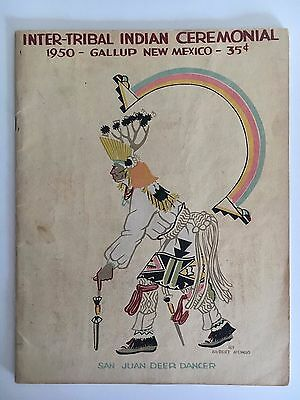 Vintage 1950 Inter-Tribal Indian Ceremonial Program Gallup New Mexico