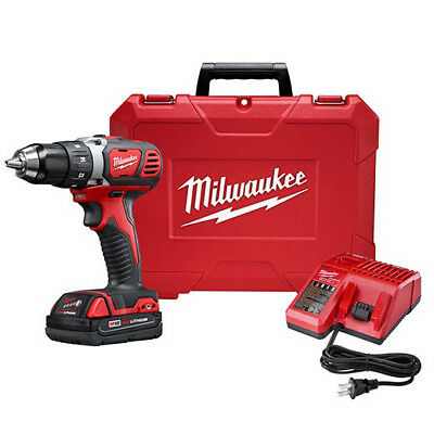 "Milwaukee M18 18V Li-Ion Compact 1/2"" Drill/Driver 2606-21CT New"