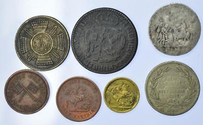 George III - Edward VII - group of 6 Model money and Tokens