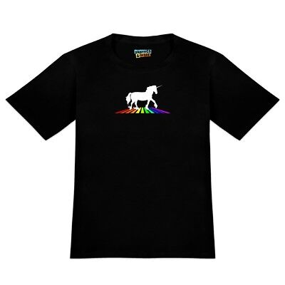 Unicorn Crossing Rainbow Men's Novelty T-Shirt