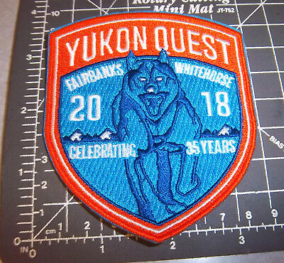 2018 Alaska Yukon Quest 1000 mile Dog Sled Race Embroidered Patch, dog team