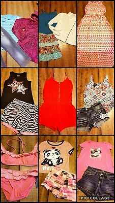 Girls Lot of 21 Pc Sz 12-14 Spring Summer Clothes Outfits