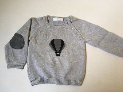 Little White Company Grey Jumper Hot Air Balloon 12-18 Months