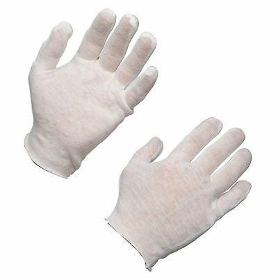AMMEX Cotton Inspection Work Gloves (Bag of 12 pairs)