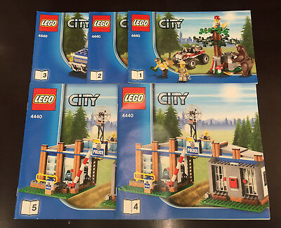 lego city forstpolizeirevier 4440 100 komplett bauanleitung verpackung eur 50 00. Black Bedroom Furniture Sets. Home Design Ideas
