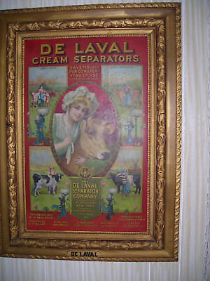 De laval tin sign.  cream separator 1910.