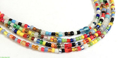 3 Strands Christmas Beads Trade Beads Love Beads Africa SALE WAS $9.99