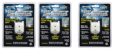 3 pack POWER OUT Power Failure Alarm and Safety Light LED THP207M