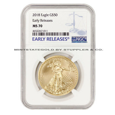 2018 $50 Eagle NGC MS70 Early Releases American Gold ER coin 1 oz 22 KT