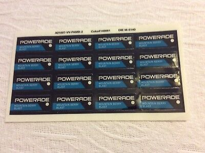Coca Cola Collectible Powerade Decal sheet