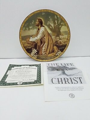 Life of Christ Collection Passion in the Garden Plate by Robert T. Barrett COA