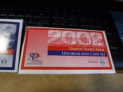 2002 United States Mint Uncirculated 20 Coin Set BU P and D Philadelphia Denver