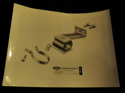 """Vintage 1964 Ford Comet Mercury Exhaust Pipe Hanger 11x8.5"""" glossy Photo  Q440"""