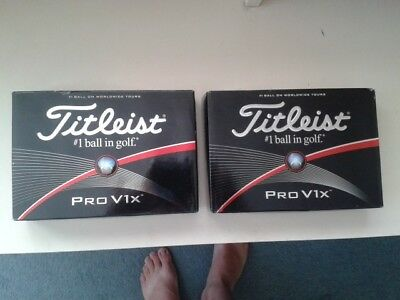 2 Dozen Titleist Pro V1 X Golf Balls - New