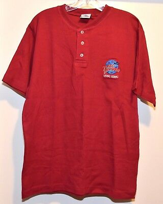 1991 NEW Planet Hollywood Hong Kong Red Shirt button size MEDIUM NWOT