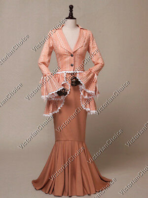 Victorian Edwardian Classy Form Fitting Suit Dress Gown Theater Clothing 328 L