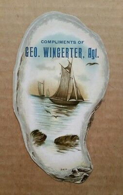 South Erie Boot & Shoe Store,Erie,Pa.,Oyster Trade Card,1890's