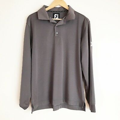 Footjoy FJ Athletic Mens Size M Golf Top Grey Long Sleeve