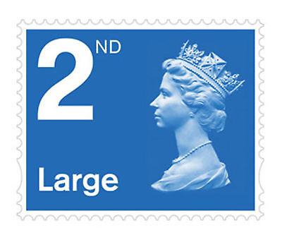 Brand New 2nd Class Royal Mail Large Letter Stamps - Self Adhesive - Pack of 4