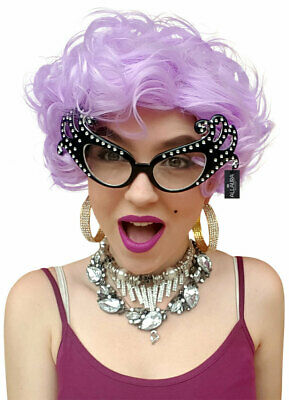 Dame Edna Inspired Purple Costume Wig - by Allaura