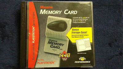 Massive memory card for Playstation One Carrying Box (With 2 1440 memory cards)