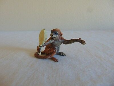 Vintage ELASTOLIN Composition Monkey Holding Mirror Germany Noah's Ark