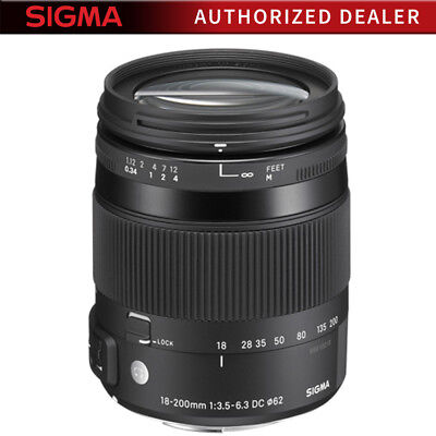 Sigma 18-200mm F3.5-6.3 DC Macro OS HSM Lens for Canon EOS