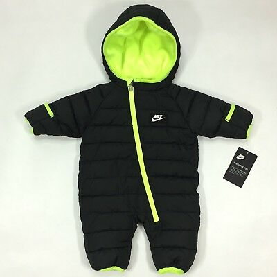 Nike Infant Insulated Snowsuit 0/3 Months Hooded Puffer Jacket Zip Bunting Suit