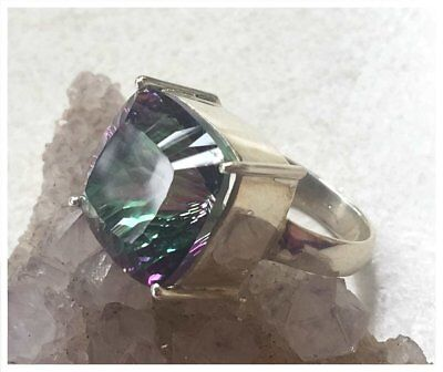 925 Sterling Silver MYSTIC TOPAZ Semi Precious GEMSTONE RING SZ N1/2 - US 7