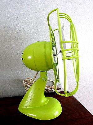 Vintage Lime Green and White Electric Fan Custom Paint Working!